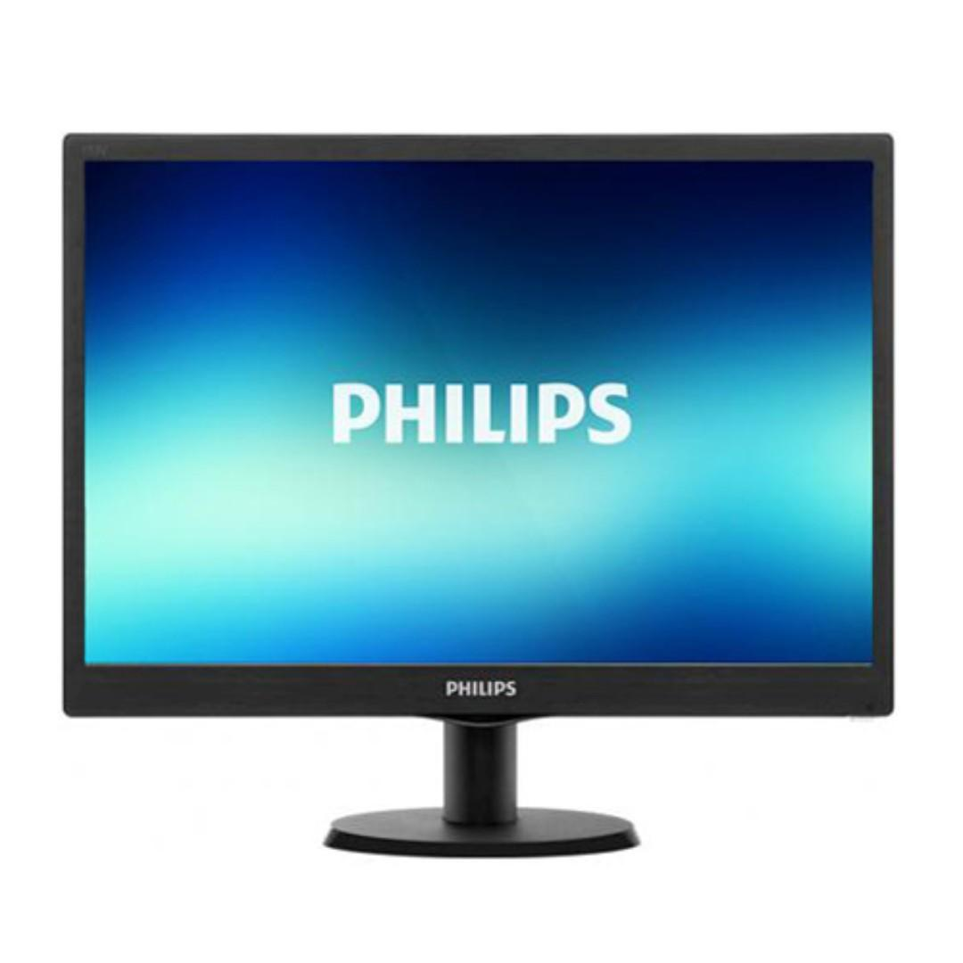 Philips 193V5L 18.5 Inch LED Monitor With HDMI ( Black Colour )