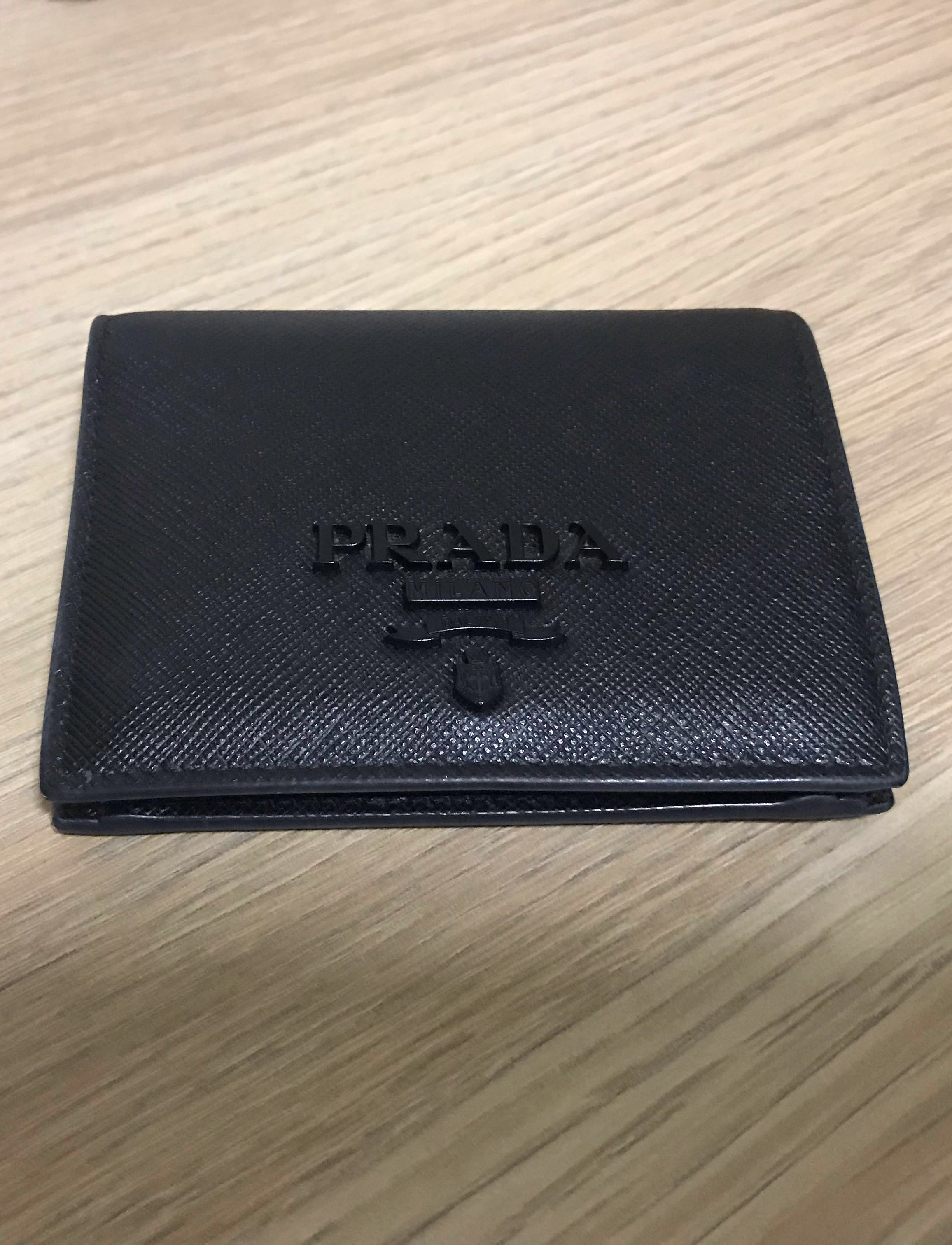 6f5922580a31 Prada Black Saffiano Leather Bii-fold Wallet (Authentic), Women's ...