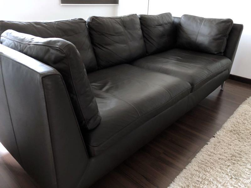 Swell Pre Loved Ikea Stockholm 3 Seat Sofa Furniture Sofas On Interior Design Ideas Ghosoteloinfo