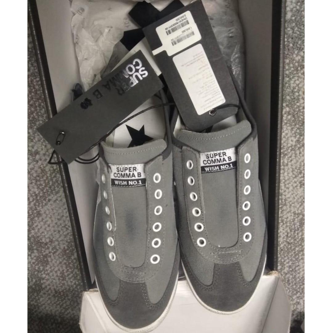 Sepatu Supercomma B (Brand Korea) Slip on GREY ORI size 39