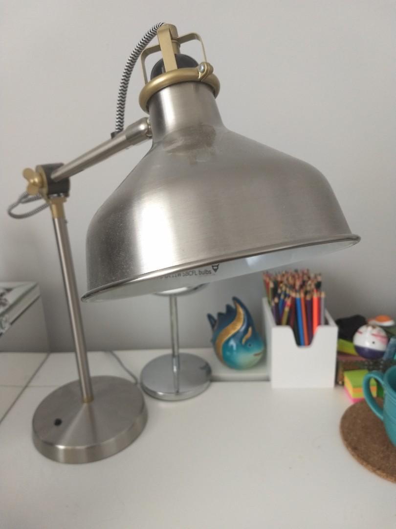 Silver IKEA Ranarp desk lamp