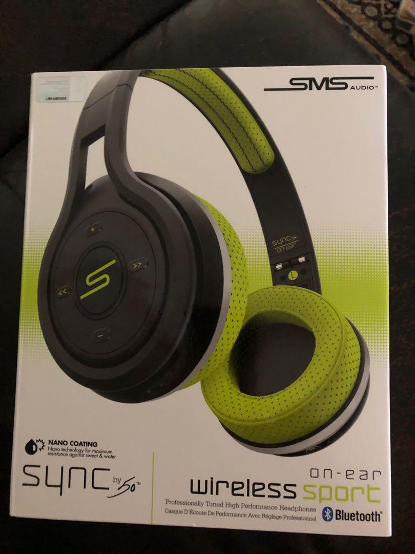 SMS AUDIO Sync by 50 Cent Sport On Ear Wireless Headphones