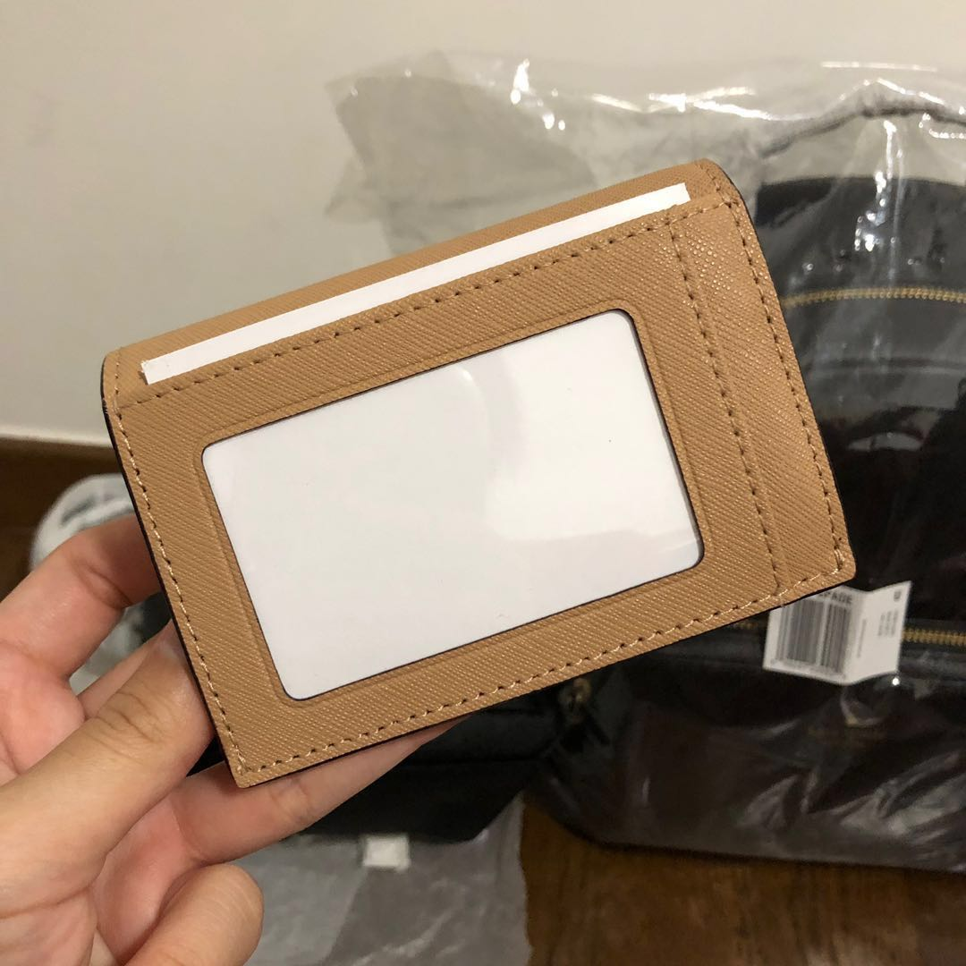 c7d179f4f SUPER RARE INSTOCK Kate Spade Cameron Street Gabe Small Snap Wallet Card  Coin Holder Cashew Butter Light Brown Beige Cafe Latte Coffee, Women's  Fashion, .