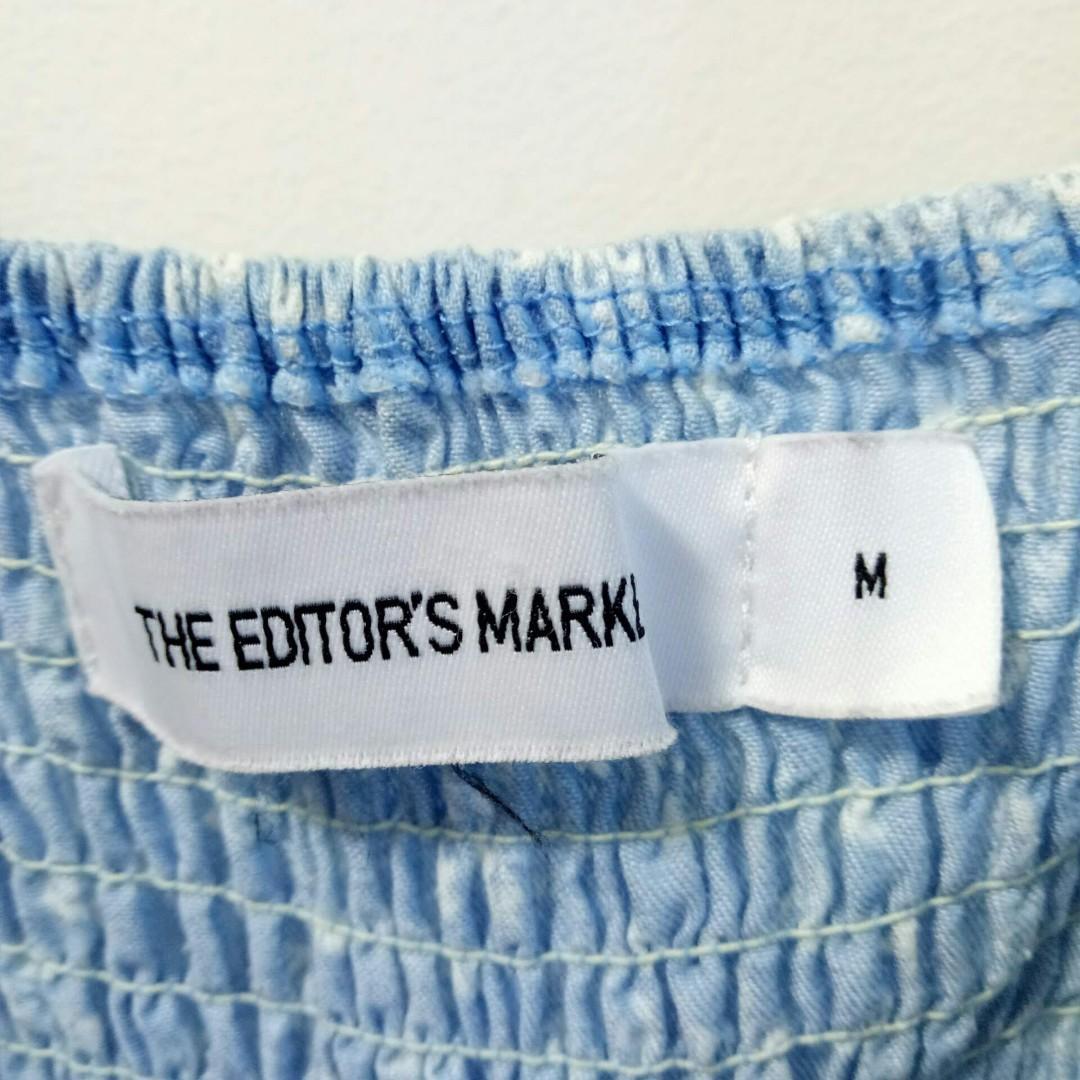 The editors market Blue Floral romper
