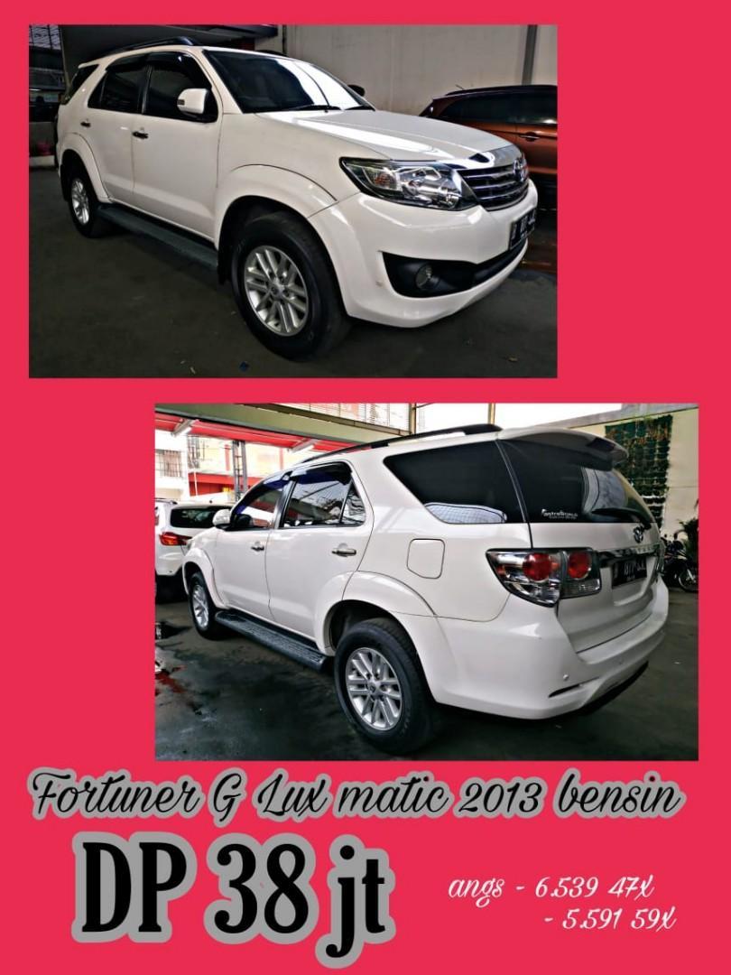 Toyota Fortuner G lux bensin 2.7 putih