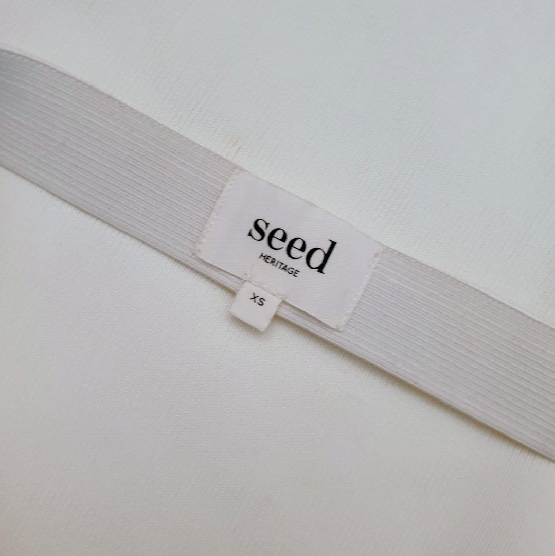 Women's size XS 6-10 'SEED HERITAGE' Gorgeous white knit midi skirt - AS NEW