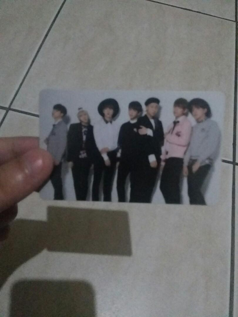 Wtt wts Bts Group I need You japan photocard official