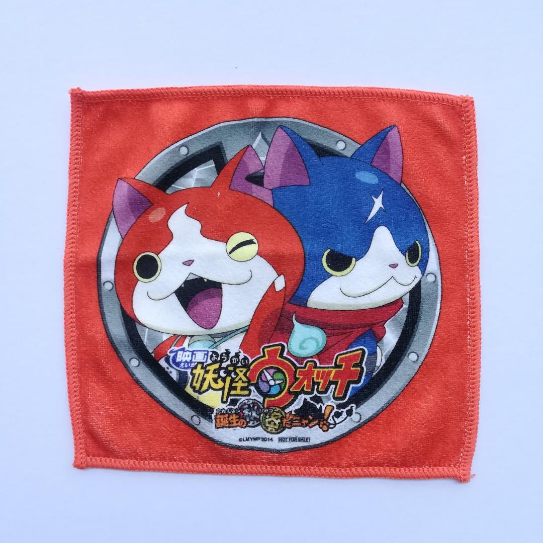 Yokai Watch: Tanjō no Himitsu da Nyan! - Jibanyan & Furunyan - Mini Towel / Handkerchief