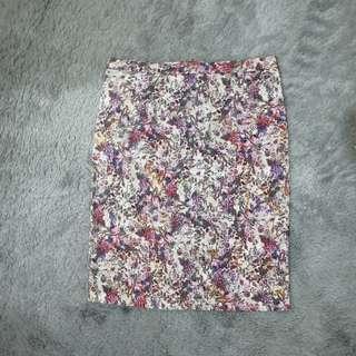 ZARA Flower skirt