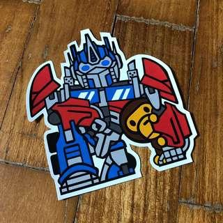 Pop Culture Luggage Laptop Misc Sticker BAPE Bathing Ape Collaboration Hasbro Transformers Optimus Prime Autobots