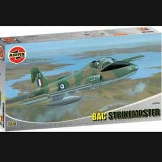 RSAF STRIKEMASTER Trainer Jet With RSAF Decals Airfix 72 Scale Model Kit Brand New In Box Rare And Out Of Production Kit Available Now