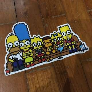 Pop Culture Luggage Laptop Misc Sticker BAPE Bathing Ape Collaboration Fox The Simpson's Family Couch Homer Marge Bart Liza Maggie