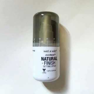 Wet n Wild Photo Focus Setting Spray Natural Finish