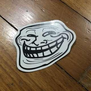 Pop Culture Luggage Laptop Misc Sticker 9Gag SGag Meme Troll Face Trololo