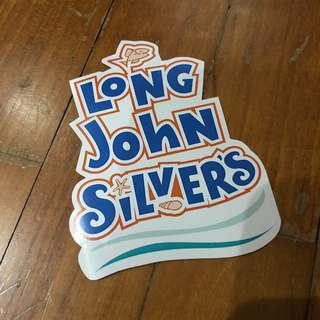 Pop Culture Luggage Laptop Misc Sticker Fast Food Long John Silver Restaurant Logo