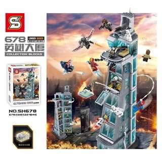 SH678 Super Heroes Attack on Avengers Tower