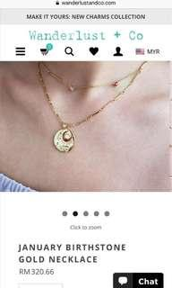 January Birthstone Necklace (Wanderlust and co)