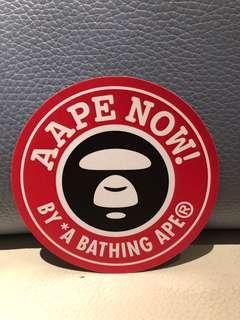 Aape By *A Bathing Ape Sticker 行李箱貼紙