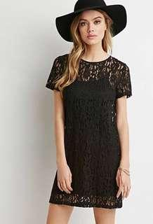 🚚 Forever 21 Black Lace Dress