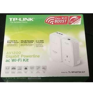 AV1200 Gigabit Powerline ac Wi-Fi Kit TL-WPA8730 KIT (homeplug)