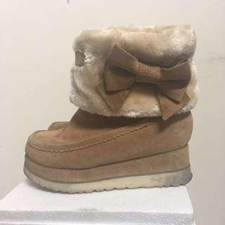 🚚 Teenmix 厚底麂皮雪靴(內增高)