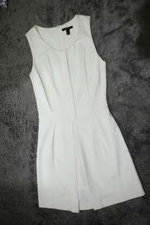 MANGO A-line Short Broken White Dress