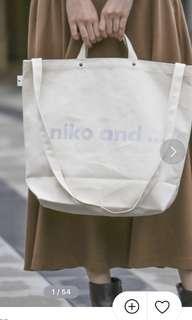 Niko and tote bag 帆布袋 環保袋