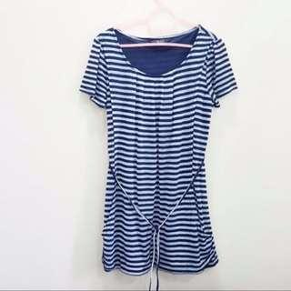 Horizontal Striped Design Dress