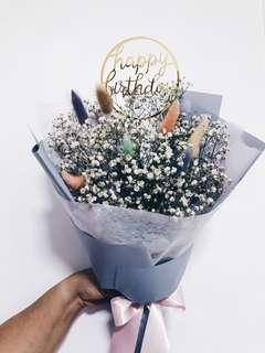Dried Babybreath bouquet / Dried bouquet / Preserved bouquet / flower bouquet / birthday bouquet / birthday flowers