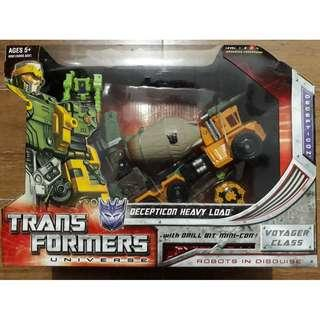 (Clearance Sale) MISB Hasbro Transformers Universe Decepticon Heavy Load with Drill Bit Mini-Con Micromaster rare semi vintage 2008 Voyager Class Not DC or Marvel