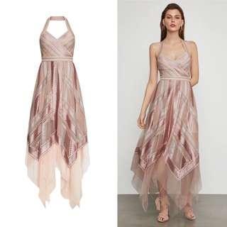4f8363f45da BN Authentic BCBG 🌹 Rose Gold Halter Gown