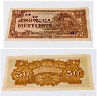 WW2 Malaya JIM Fifty Cents