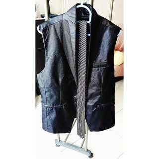 Black Forest Men's Tuxedos Vest (FOC Tie)