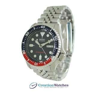 Seiko [CreationWatches] Seiko Automatic Diver s 200m Jubilee Bracelet SKX009K2 SKX009 Men s Watch