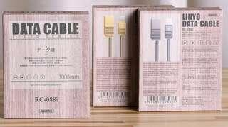 🚚 ‼️出清特價‼️🍎iPhone 高級木盒裝 REMAX 靈域數據線 最高2.1A快速充電 高效穩定傳輸 純銅線芯