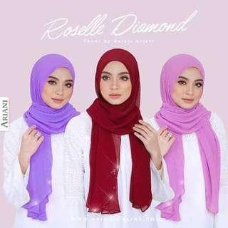 (RESERVED) Ariani Roselle Pleated Shawl
