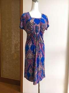 🚚 義大利風藍色洋裝串珠 便宜賣