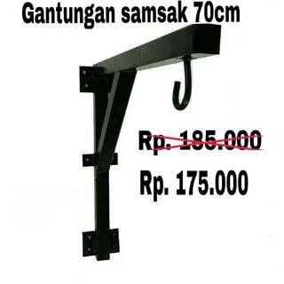 Gantungan samsak 70cm atau bracket samsak atau wall mounting untuk sansak