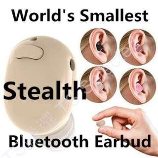 世界最小 隱形 超 迷你 藍芽 耳機 隱藏式 極小 不閃燈 高音質 重低音 無線 藍牙 運動 入耳式 商務 生日 耶誕 禮物 吃雞神器 非 SONY beats iphone JBL world smallest SPY earphone