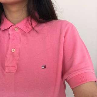 Pink Tommy Hilfiger Polo Tee
