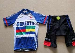 Banesto racing wearing set