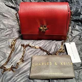Charles & Keith Sling Bag Valentine Star Lock