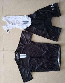 Rapha black racing wearing set