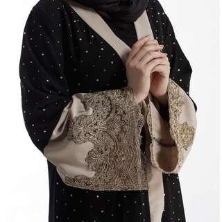 FREE POSTAGE Pre-order Black Beads With Lace Abaya
