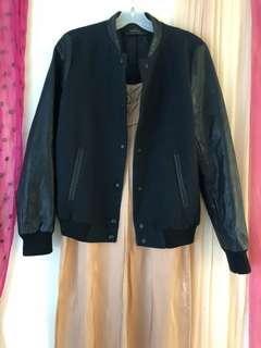 Black Bomber Jacket boyfriend-fit (small)