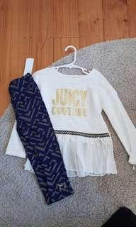 Girls Juicy Couture top and leggings set BNWT