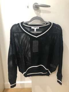 NEW Black loose knit sweater