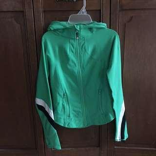 Green Lululemon zip up hoodie size 4