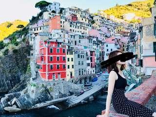 文青 波點半裙 購於意大利