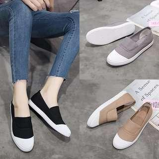 INSTOCK Size 37 Korean Grey Slip on Shoes